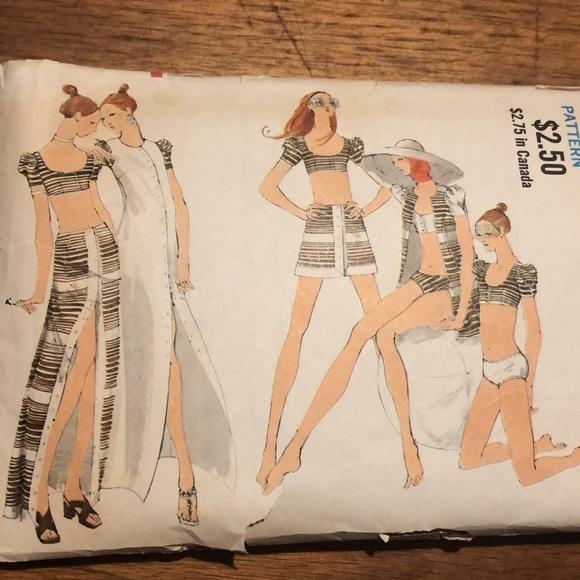 🍁Vintage Vogue sewing pattern miss vogue 7838